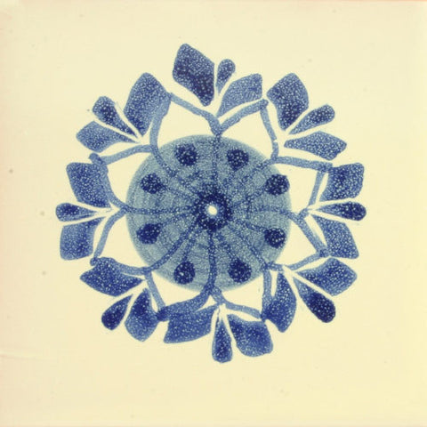 Gorky Gonzalez Mexican blue art tile