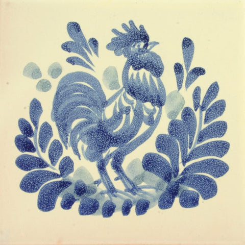 Gorky Rooster Mexican art tile