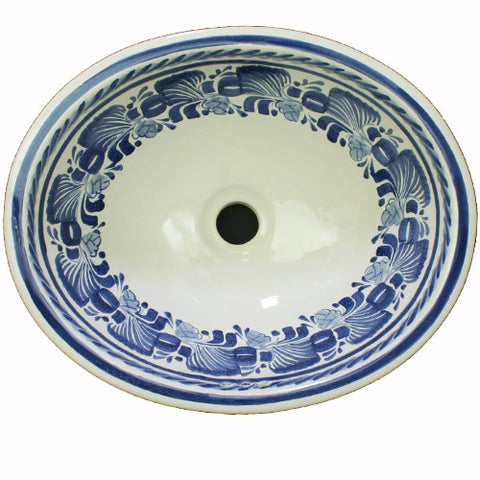 Gorky Gonzalez blue art sink basin