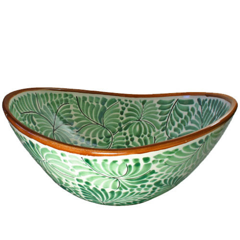 Gorky Gonzales Mexican art vessel sink with ferns
