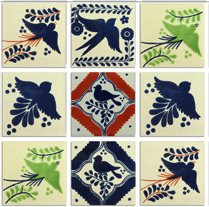 Bird designs Talavera tile collection