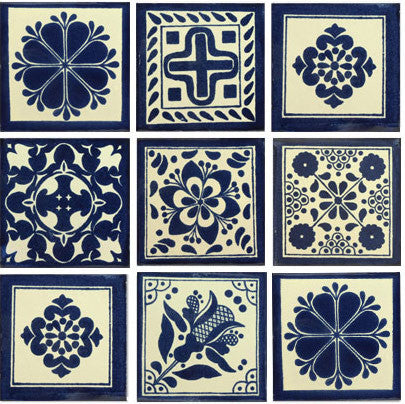 Blue And White II Talavera Tile Collection