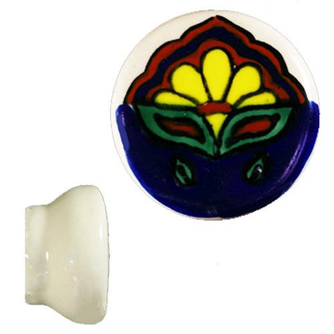 Hand Painted Ceramic Knob- Amanacer