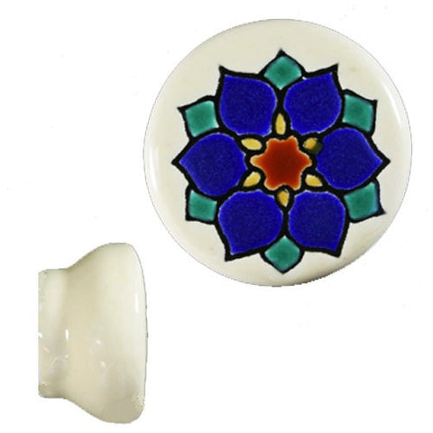 Raised Relief Ceramic Knob- Violeta