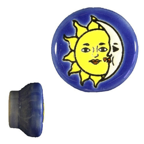 Raised Relief Ceramic Knob- Sol Y Luna
