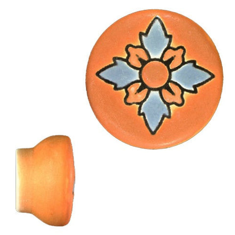 Raised Relief Ceramic Knob- Mision V