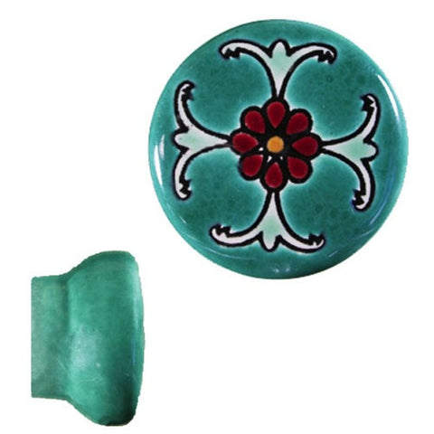 Raised Relief Ceramic Knob- Cruz Magenta