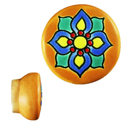Raised Relief Ceramic Knob- Delicado