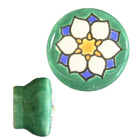 Raised Relief Ceramic Knob- Delicado III