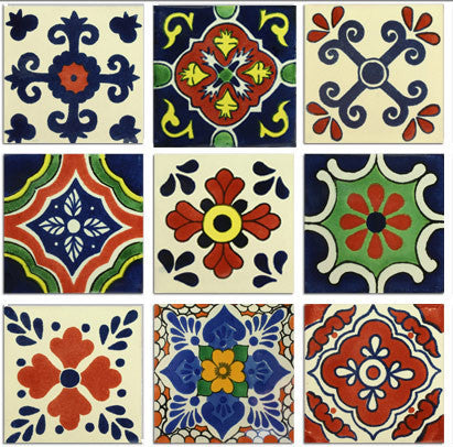 1 square foot classic Mexican tile designs