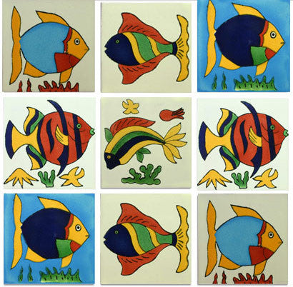 Fish Mexican Talavera Tile Collection Mexican Tile Designs
