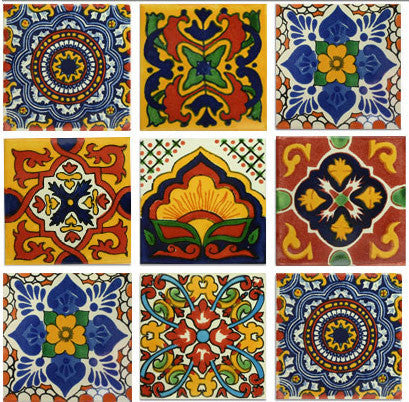 Gold and Terra Cotta Talavera Tile Collection