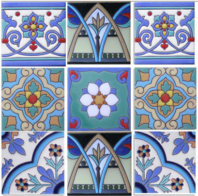 Malibu I Ceramic Mexican Tile Collection Mexican Tile