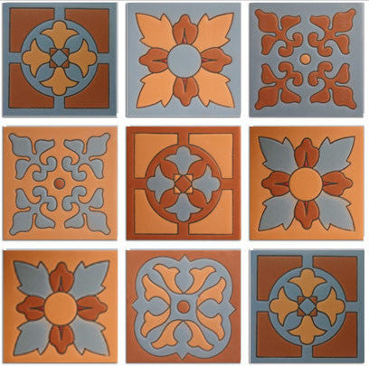 Mission style Arts and Craft tile collections