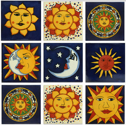 Sun designs Talavera Mexican tiles