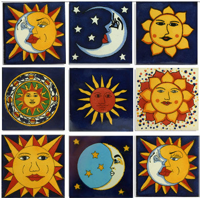 Sun and Moon tile collection