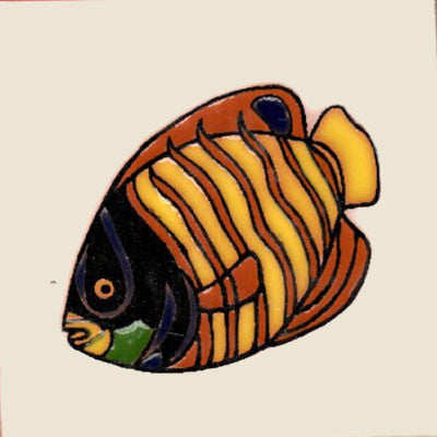 striped angel fish ceramic tile