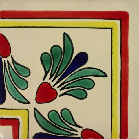 Ceramic Mexican tile hearts