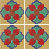 Raised relief decorative Mexican tile