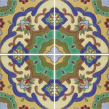 Raised relief Spanish tile pattern