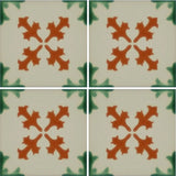 4 tile array of Especial ceramic Mexican tile