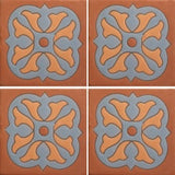 Terra cotta decorative tile
