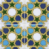 Raised relief decorative tile