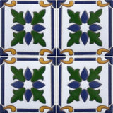 Mexican raised relief tile array