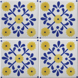 Mexican tile 4-tile array
