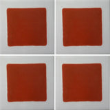 4 tile array red square geometric tile