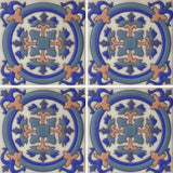 Moorish style hand painted tile