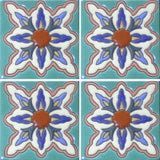 raised relief ceramic Mexican tile