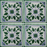 4-tile array Mexican tile