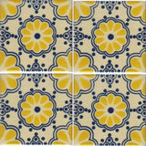 4 tile array Mexican tile