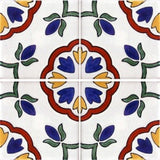 4-tile array Spanish tile