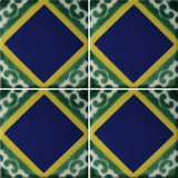 Four tile array Mexican decorative tile - Diamond