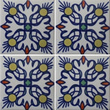 4 tile array patterned Mexican tile