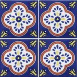 4 Tile Array Mexican ceramic tile