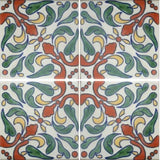 4-tile array decorative Mexican ceramic tile