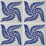 four tile array ceramic Mexican tile