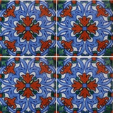 four tile array Mexican decorative tile - Energia