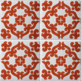 4 tile array Barrocco Terra Cotta decorative Mexican tile