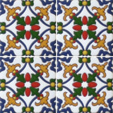 Mexican decorative raised relief tile