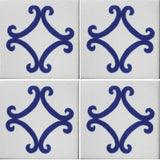 4 tile picture of Arco Azul Decorative Mexican tile
