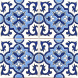 Raised relief Moorish tile