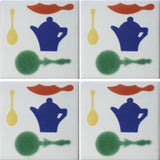 4-tile array kitchen decorative tiles
