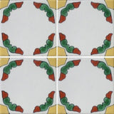 4 tile array decorative Mexican tile