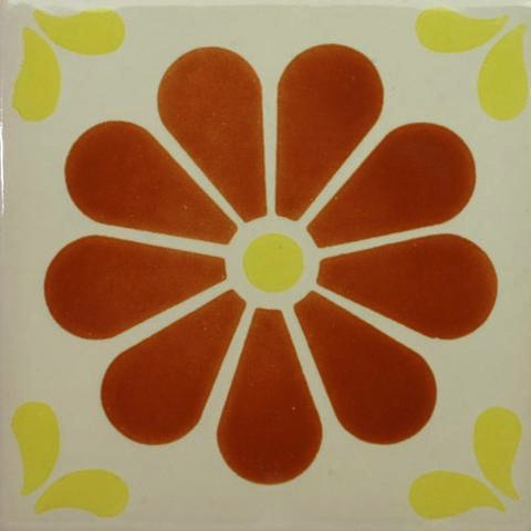 Porcelain Daisy tile for cold climate installations