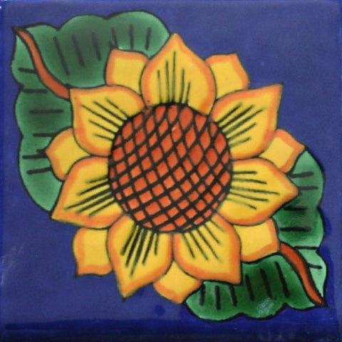 Porcelain Sunflower Mexican Tile