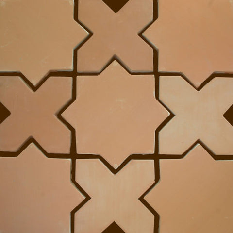 Star and Cross, Tierra Art Hand Crafted, High Fired Terra Cota Floor Pavers